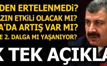 Türkiye'de 2. dalga mı yaşanıyor? Virüs yazın etkili olacak mı? Bakan Koca tek tek açıkladı