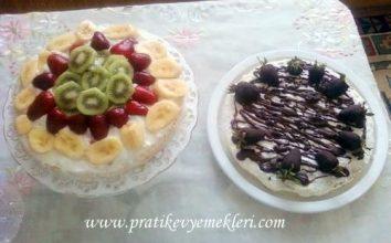 Meyveli ve Çikolatalı Pasta