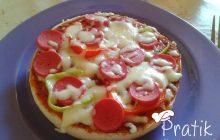 Hamburger Ekmeğinden Pizza