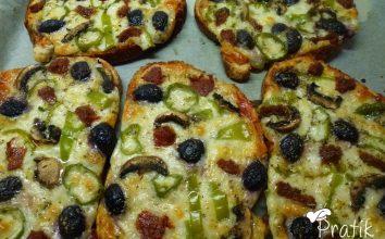 Pratik Ekmek Pizzası
